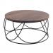 TOLEDO שולחן סלון עגול מעצ מלא משולב ברזל