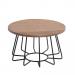 HAWAII שולחן סלון עגול מעץ מלא