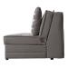 Satis_Deluxe ספה נפתחת למיטה זוגית עם ארגז מצעים צבע אפור