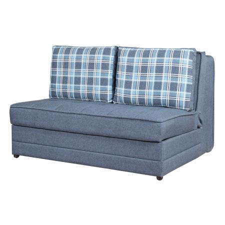 Satis_Deluxe ספה נפתחת למיטה זוגית עם ארגז מצעים צבע כחול מבית ברדקס