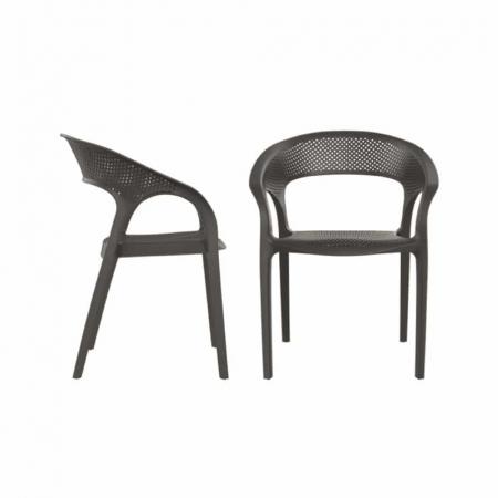 CARISMA כסא לפינת אוכל מפלסטיק צבע שחור