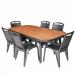 BOLEVIA פינת אוכל שולחן ו6 כסאות