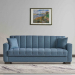 LUCAS ספה תלת מושבית נפתחתלמיטה צבע כחול מבית ברדקס