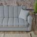 LUCAS ספה נפתחת למיטה עם ארגז צבע אפור בהיר