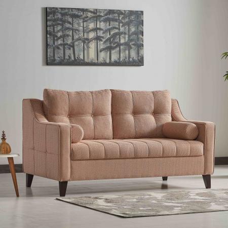LOVE ספה דו מושבית נפתחת למיטה זוגית צבע בז' מבית ברדקס