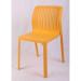 GRAND כסא לפינת אוכל מפלסטיק צבע צהוב