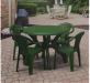 COLUMBIA פינת אוכל שולחן ו4 כסאות צבע ירוק